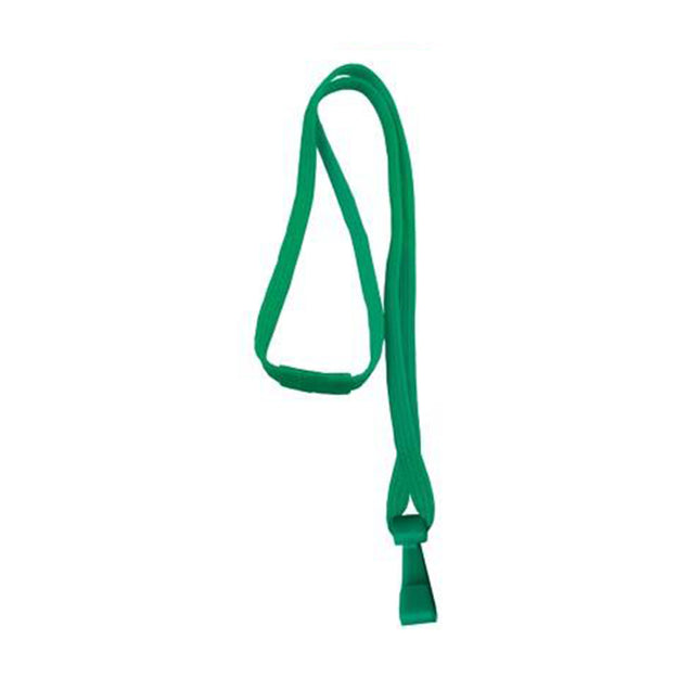 "Standard Lanyard, Tubular Lanyard 3/8"" (10mm), Flexible Tubular Polyester Lanyard, Breakaway, ""No-Flip"" Wide Plastic Hook, 3/8"" (10mm) wide x 36"" (900mm) long, 47"" thread with tighter weave and softer texture - 100/pack"
