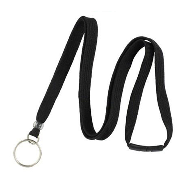 "Standard Lanyard, Tubular Lanyard 3/8"" (10mm), Flexible Tubular Polyester Lanyard, Breakaway, NPS Split Ring, 3/8"" (10mm) wide x 36"" (900mm) long, 47"" thread with tighter weave and softer texture - 1000/pack"