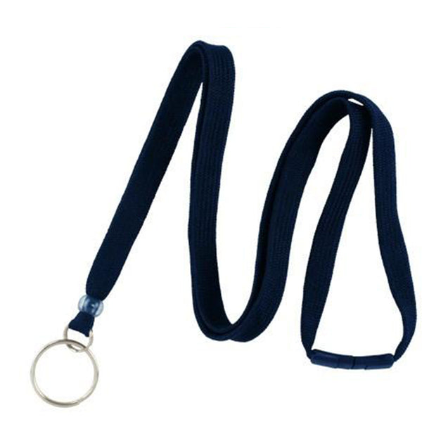 "Standard Lanyard, Tubular Lanyard 3/8"" (10mm), Flexible Tubular Polyester Lanyard, Breakaway, NPS Split Ring, 3/8"" (10mm) wide x 36"" (900mm) long, 47"" thread with tighter weave and softer texture - 100/pack"