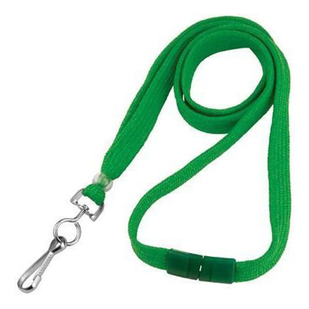 "Standard Lanyard, Tubular Lanyard 3/8"" (10mm), Flexible Tubular Polyester Lanyard, Breakaway, NPS Swivel Hook, 3/8"" (10mm) wide x 36"" (900mm) long, 47"" thread with tighter weave and softer texture - 100/pack"