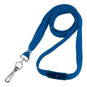 "Standard Lanyard, Tubular Lanyard 3/8"" (10mm), Flexible Tubular Polyester Lanyard, Breakaway, NPS Swivel Hook, 3/8"" (10mm) wide x 36"" (900mm) long, 47"" thread with tighter weave and softer texture - 1000/pack"