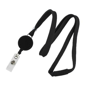 "Standard Lanyard, Tubular Lanyard 3/8"" (10mm), Flexible Tubular Polyester Lanyard, Breakaway, Badge Reel with Strap, 3/8"" (10mm) wide x 36"" (900mm) long, 47"" thread with tighter weave and softer texture - 1000/pack"