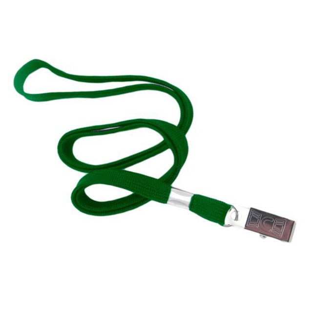 "Standard Lanyard, Tubular Lanyard 3/8"" (10mm), Flexible Tubular Polyester Lanyard, Non-Breakaway, Bulldog Clip, 3/8"" (10mm) wide x 36"" (900mm) long, 47"" thread with tighter weave and softer texture - 100/pack"