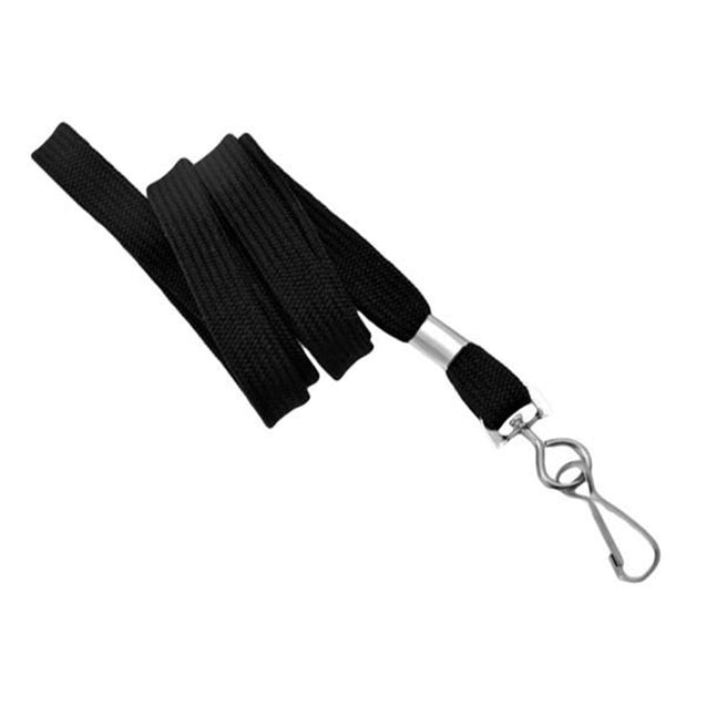"Standard Lanyard, Tubular Lanyard 3/8"" (10mm), Flexible Tubular Polyester Lanyard, Non-Breakaway, Swivel Hook, 3/8"" (10mm) wide x 36"" (900mm) long, 47"" thread with tighter weave and softer texture - 1000/pack"