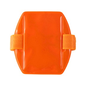 "Speciality Badge Holder, Armband Holder Series 2.38"" x 3.38"" (60 mm x 86 mm), Reflective Armband Badge Holder, Heavy-duty vinyl construction ; Reflective Luminescent ; with Armband Strap"