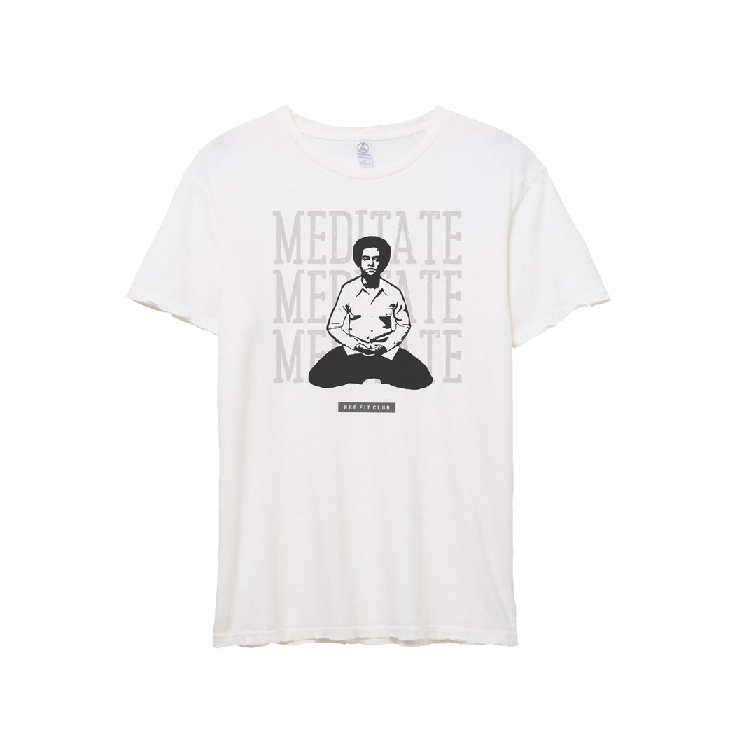 MEDITATE T- SHIRT -  WHITE
