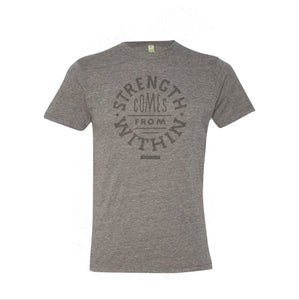 VINTAGE STRENGTH T- SHIRT -  VINTAGE GREY