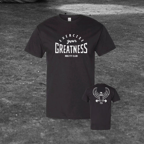 Exercise Your Greatness Black Tee