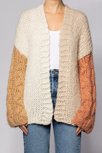 Cardigan with Color Block