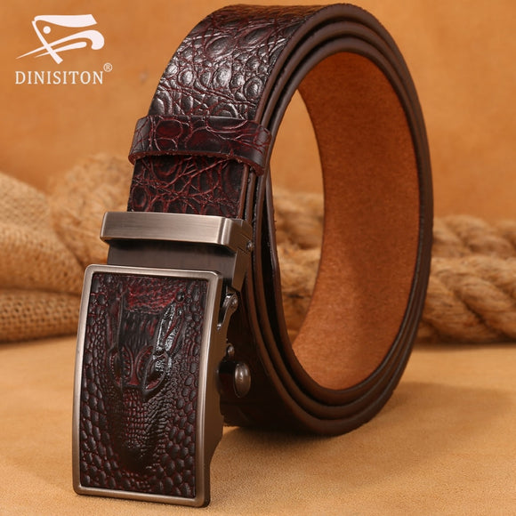 Hot Sale Men belts Luxury Genuine Leather Crocodile designer High Quality Automatic Belt Man Buckle Real Cowhide Jeans