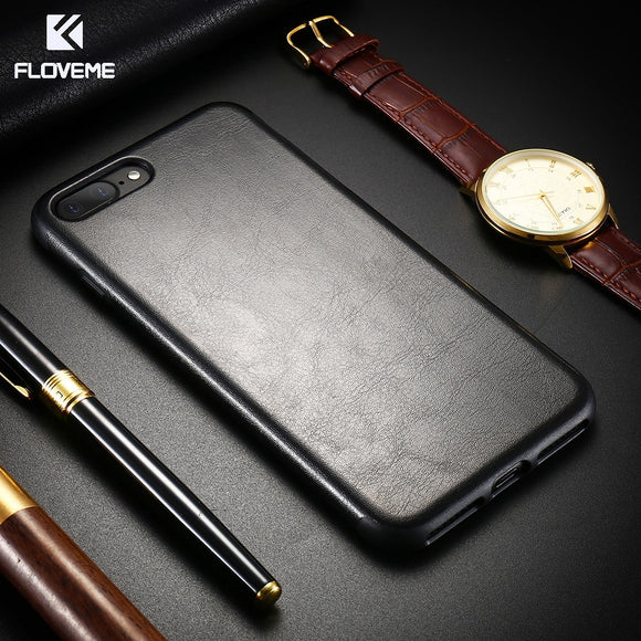 [Retro Crazy Horse Style]  Leather Phone Bag Cases For iPhone 7 6s 6 Plus