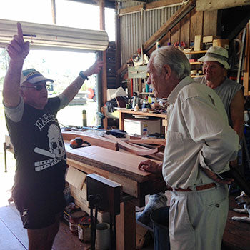 3 Australian Woodworkers talking