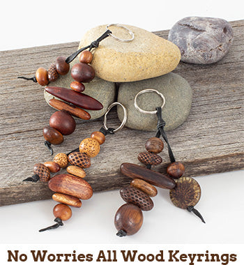 No Worries All Wood Keyrings
