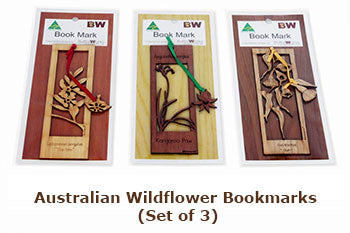 Australian Wildflower Bookmarks (Set of 3)