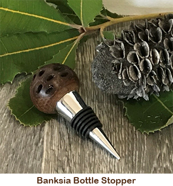 Banksia bottle stopper