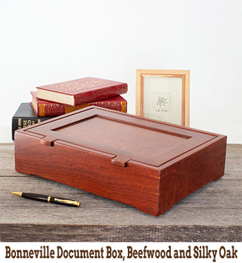 Bonneville Document Box, Beefwood and Silky Oak