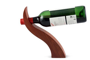 Curved Redgum Wine Bottle Balancer