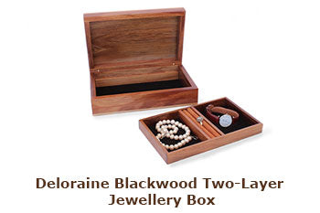 Deloraine Blackwood Two-Layer Jewellery Box