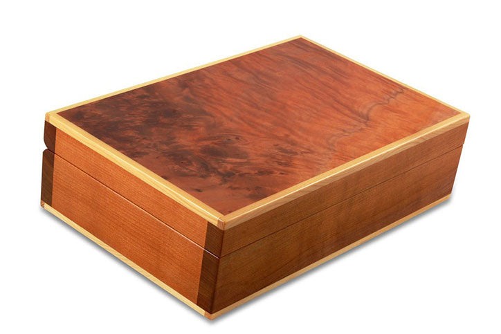 Deloraine Burl Myrtle Two-Layer Jewellery Box