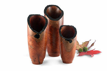 Ebonised Redgum Chimney Vases