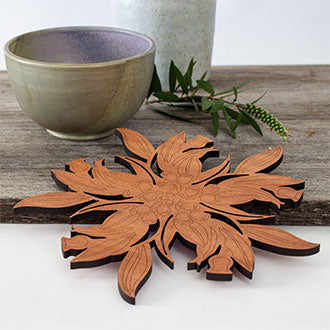 Gum Leaf Cut-Out Pot Stand (Large)