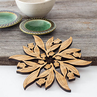 Gum Leaf Cut-Out Pot Stand (Small)