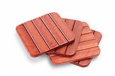 Jarrah Roll-Up Set of 4 Coasters