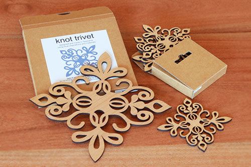 Knot Trivet and Matching Coasters