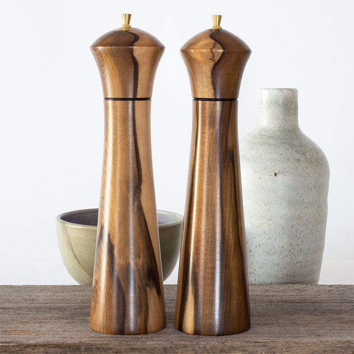 Masters Pair Sassafras Salt & Pepper Mills