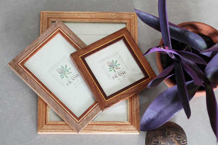 Mixed timber photo frames