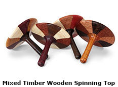 Mixed Timber Wooden Spinning Top