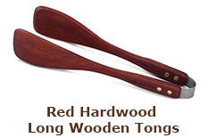 Red Hardwood Long Wooden Tongs