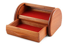 Roll Top Australian Red Cedar Jewellery Box
