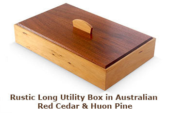 Rustic Long Utility Box in Australian Red Cedar & Huon Pine