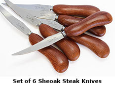 Set of 6 Sheoak Steak Knives