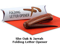 She Oak & Jarrah Folding Letter Opener