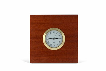Square Jarrah Desk Clock