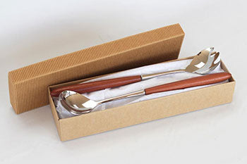 Stafford Redgum and Stainless Steel Salad Servers