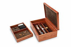 Tamar Blackwood Watch and Cufflink Box