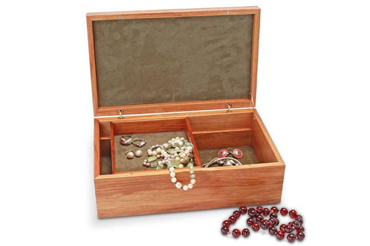Tamar Blackwood Jewellery Box with Tray
