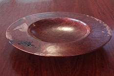 Turned Flat-Edge Redgum Burl Bowl