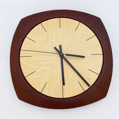Jarrah and Ash Deco Wall Clock