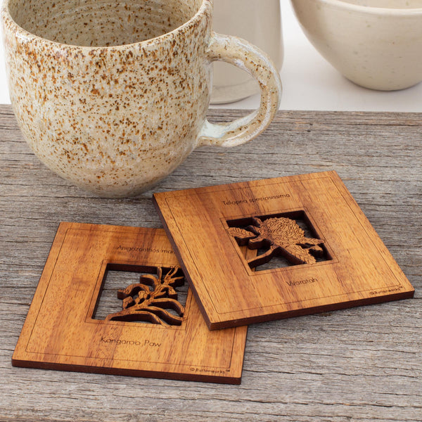 buy 100  handmade australian wildflower coasters online