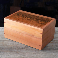 Cremation Ashes Box Tiger Myrtle