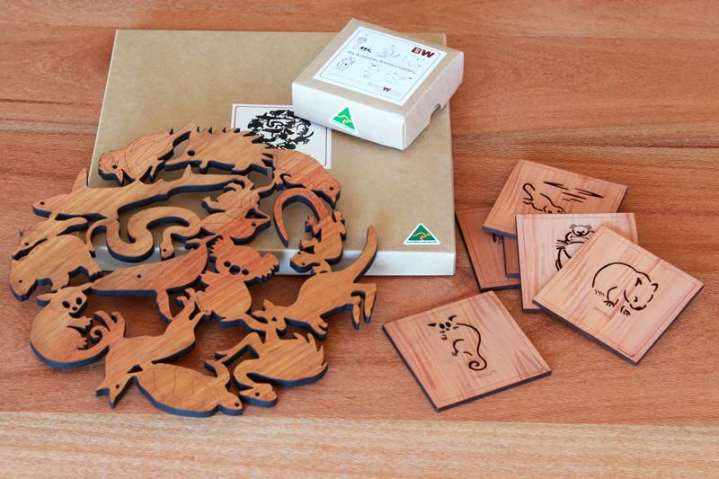 Image of Australian Animal Trivet & Coaster Gift Bundle