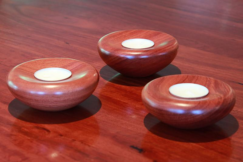 Set of 3 T-Light Candles on table. Gift Bundle