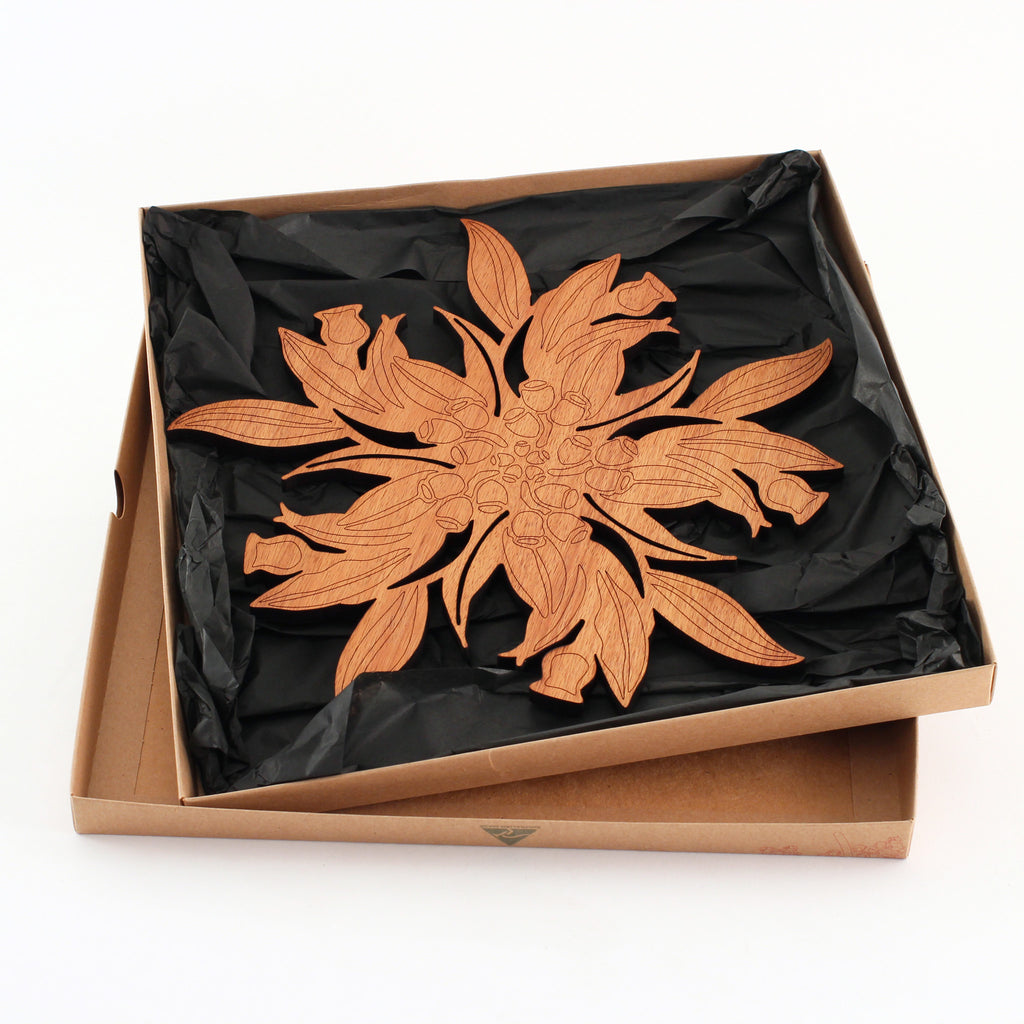 Buy 100 Australian Made Gum Leaf Cut Out Pot Stand
