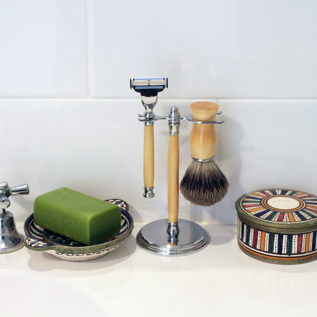 Huon Pine Shaving Kit and Stand