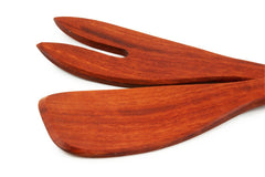 Red Hardwood Salad Servers