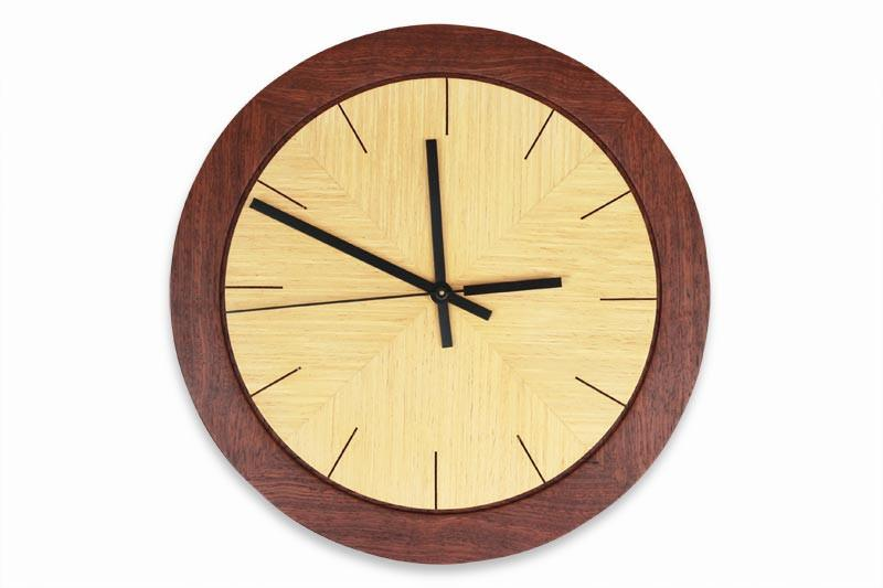 Image of Jarrah and Ash Round Wall Clock